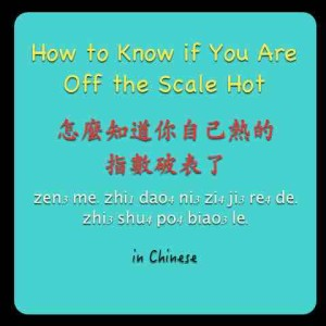 off the scale hot in Chinese