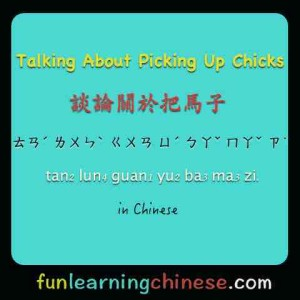 Talking About Picking Up Chicks 談論關於把馬子