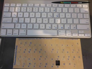 The bopomofo stickers on their sheet are supposedly matched to the appropriate key, but the keyboard layout for my Zhuyin bopomofo keyboard was different.