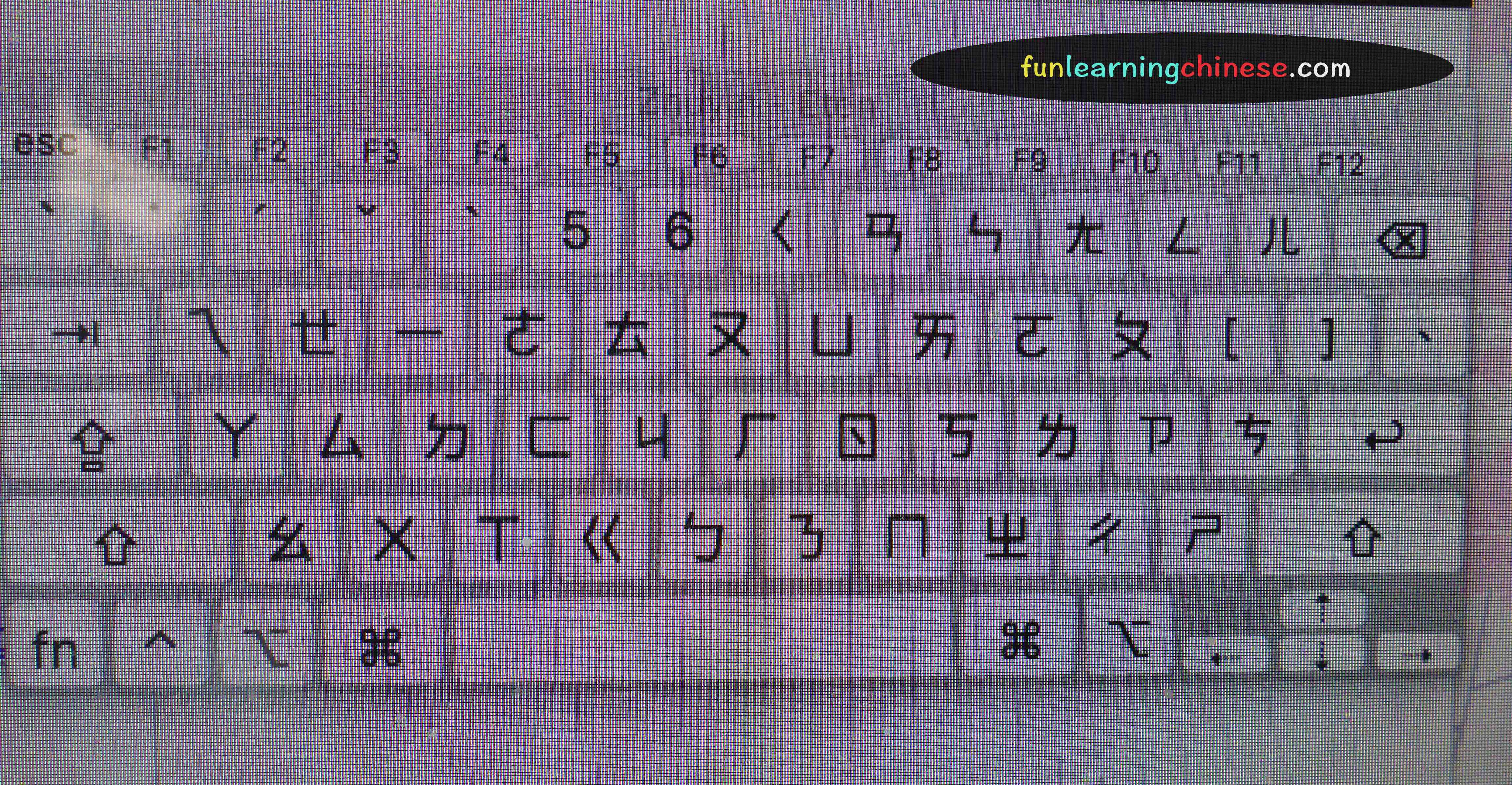 Chinese bopomofo stickers for my computer keyboard fun learning a screenshot of the bopomofo keyboard viewer on my mac computer biocorpaavc Images